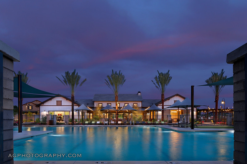 Clubhouse/Pool Ammenity at Marley Park by Meritage Homes, Surprise, AZ, 7/30/19.