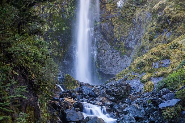 Devil Punchbowl Falls  - Arthur's Pass