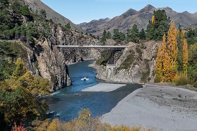 Hanmer Springs bridge across the Waiau River - Canterbury