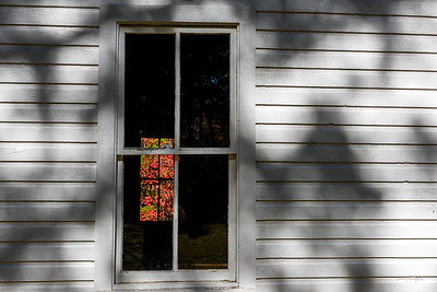 Primitive Baptist Church Window in Cades Cove