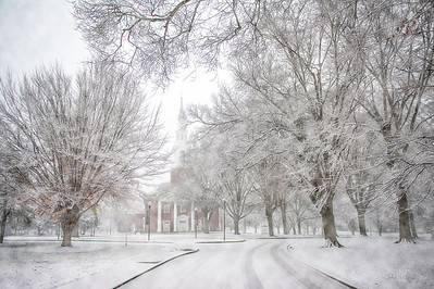 Alumni Memorial Chapel Winter Snowstorm