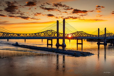Louisville Riverfront at Sunset