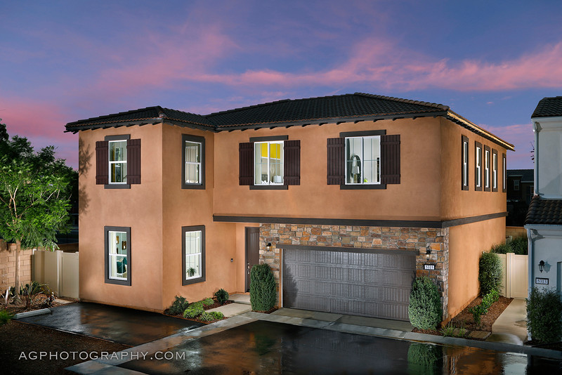 Orchard Square Models by Meritage Homes, Chino, CA, 9/6/19.