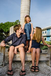Postcard Inn St Pete Beach Family Sunset Portraits