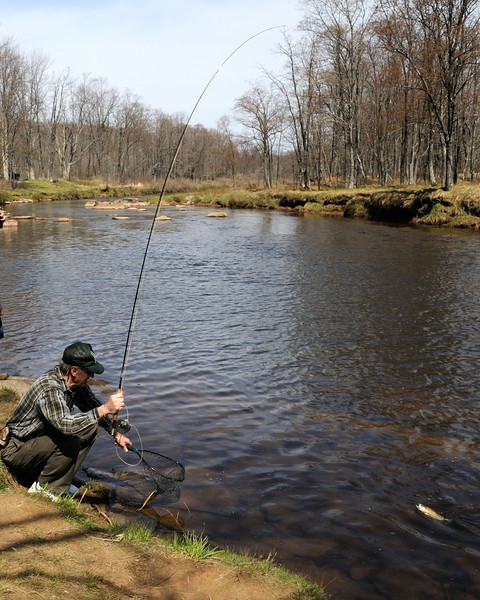 Catch of the day<br /> <br /> Blackwater River, Tucker County, WV<br /> April 2012