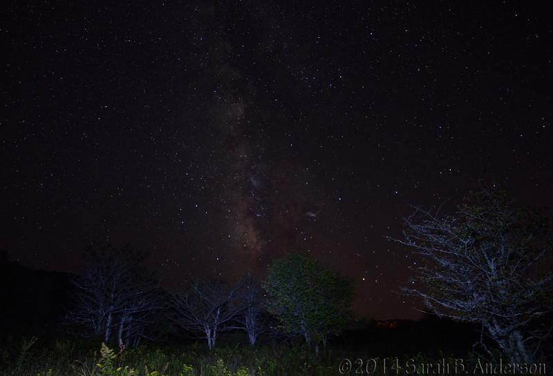 Milky Way over Canaan Valley National Wildlife Refuge