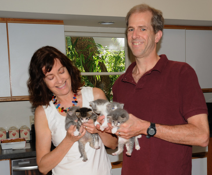 Our awesome friends, Ted & Martha, who spend their free time fostering kittens.  <br /> <br /> July 2011