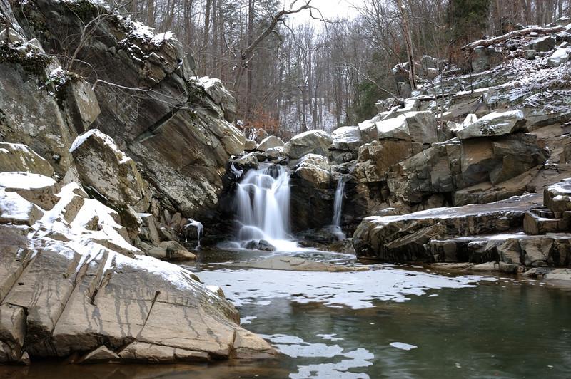 Scott's Run waterfall<br /> <br /> Fairfax County, Virginia<br /> January 2012