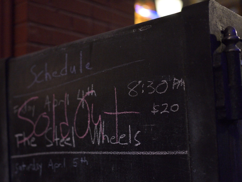 Sold Out - The Steel Wheels @ The Purple Fiddle