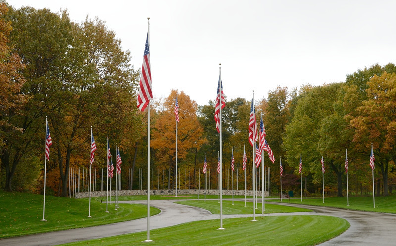 The flags @ Ft. Custer