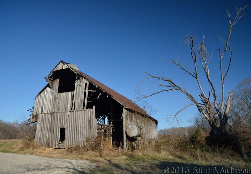 old barn at the Maintz Wildlife Preserve<br /> Cape Girardeau County, MO<br /> November 2013