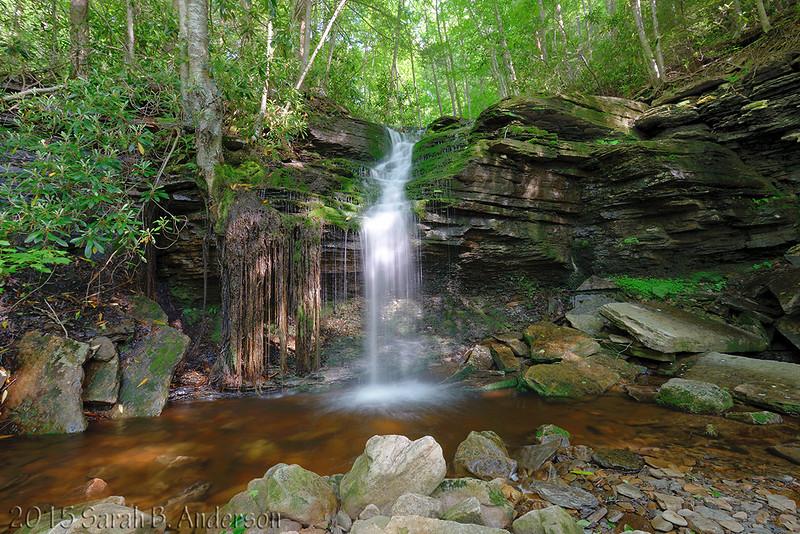 un-named waterfall on un-named creek