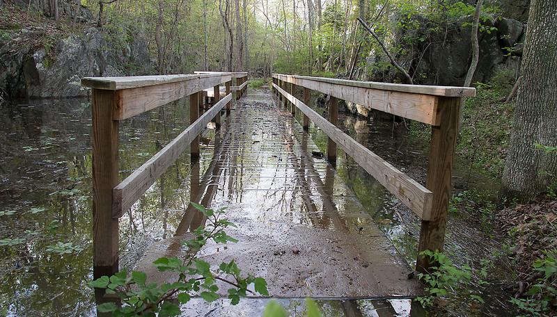 Floating bridge<br /> Great Falls National Park, VA<br /> May 2014