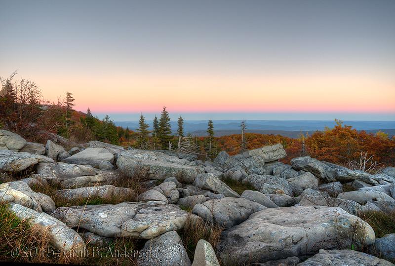 Bear Rocks, Autumn Sunset