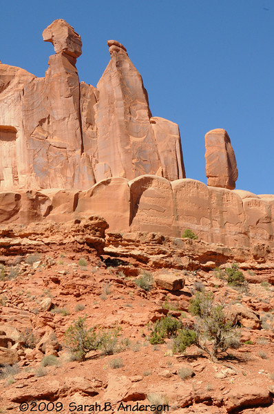rock formation viewed from the Park Avenue trail<br /> <br /> Arches National Park, Utah<br /> April 2009