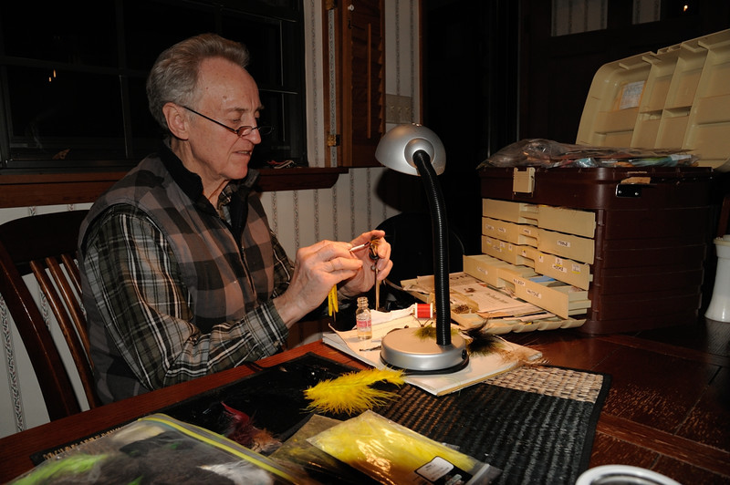 Fly tying<br /> <br /> Canaan Valley, Tucker County, WV<br /> April 2012