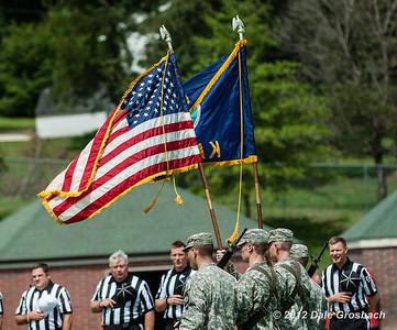 September 1, 2012; Atchison, KS; Sterling (KS) Warriors vs. Benedictine (KS) Ravens.  Mandatory Credit: Dale Grosbach-Dale G Sports