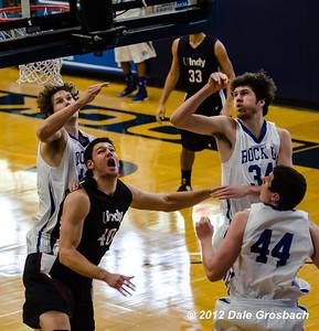 Image #0747  January 5, 2013; Kansas City, MO; University of Indianapolis (IN) Greyhounds Men's Basketball at Rockhurst University (MO) Hawks.  Mandatory Credit: Dale Grosbach-Dale G Sports