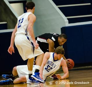 Image #0964  January 5, 2013; Kansas City, MO; University of Indianapolis (IN) Greyhounds Men's Basketball at Rockhurst University (MO) Hawks.  Mandatory Credit: Dale Grosbach-Dale G Sports
