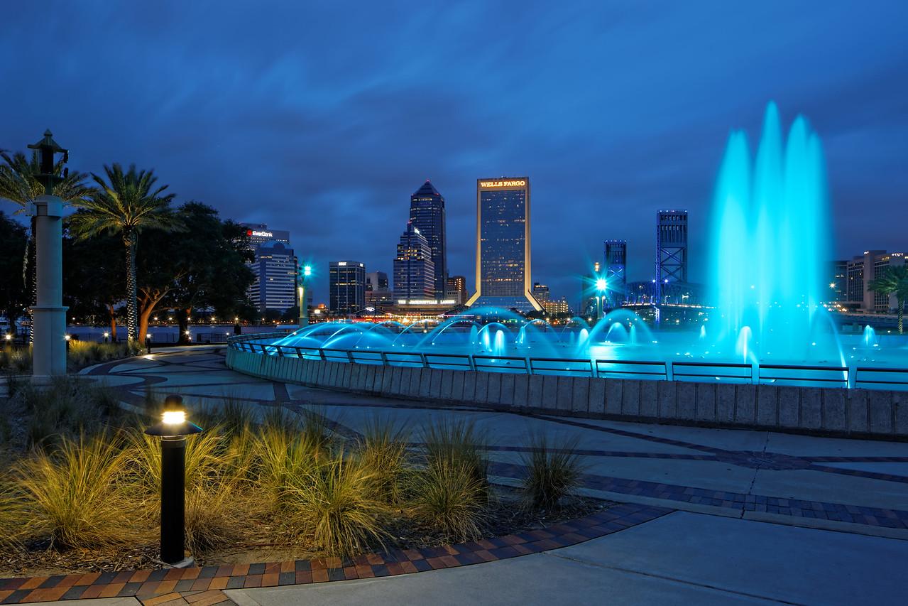 Jacksonville Skyline as seen from the Friendship Fountain