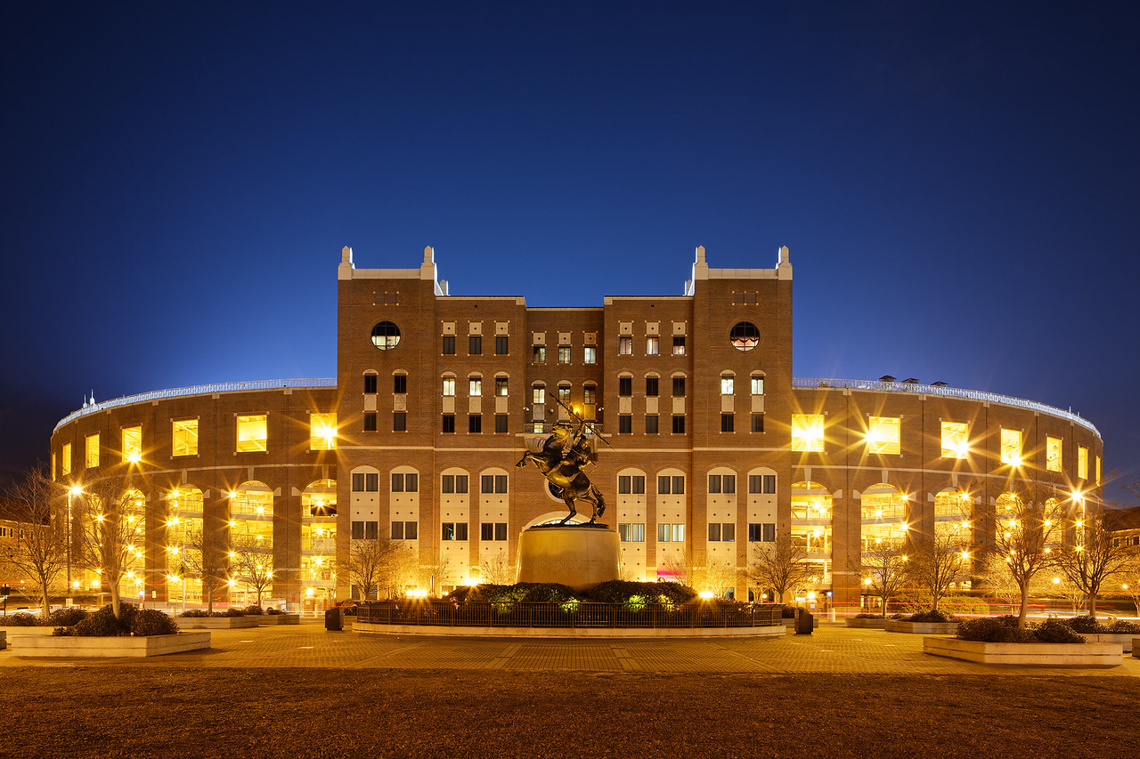 Doak Campbell Stadium and the Unconquered statue at Florida State University