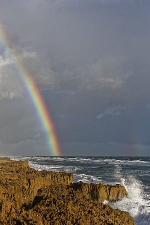 Double rainbow over Ross Witham Beach on Hutchinson Island