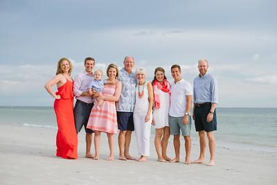 Redington Beach Florida Family Baby Portrait Session at Sunset
