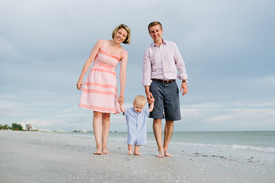 Redington Beach Florida Family Baby Portrait Session at Sunset