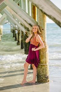Senior Beach Portraits Sunset