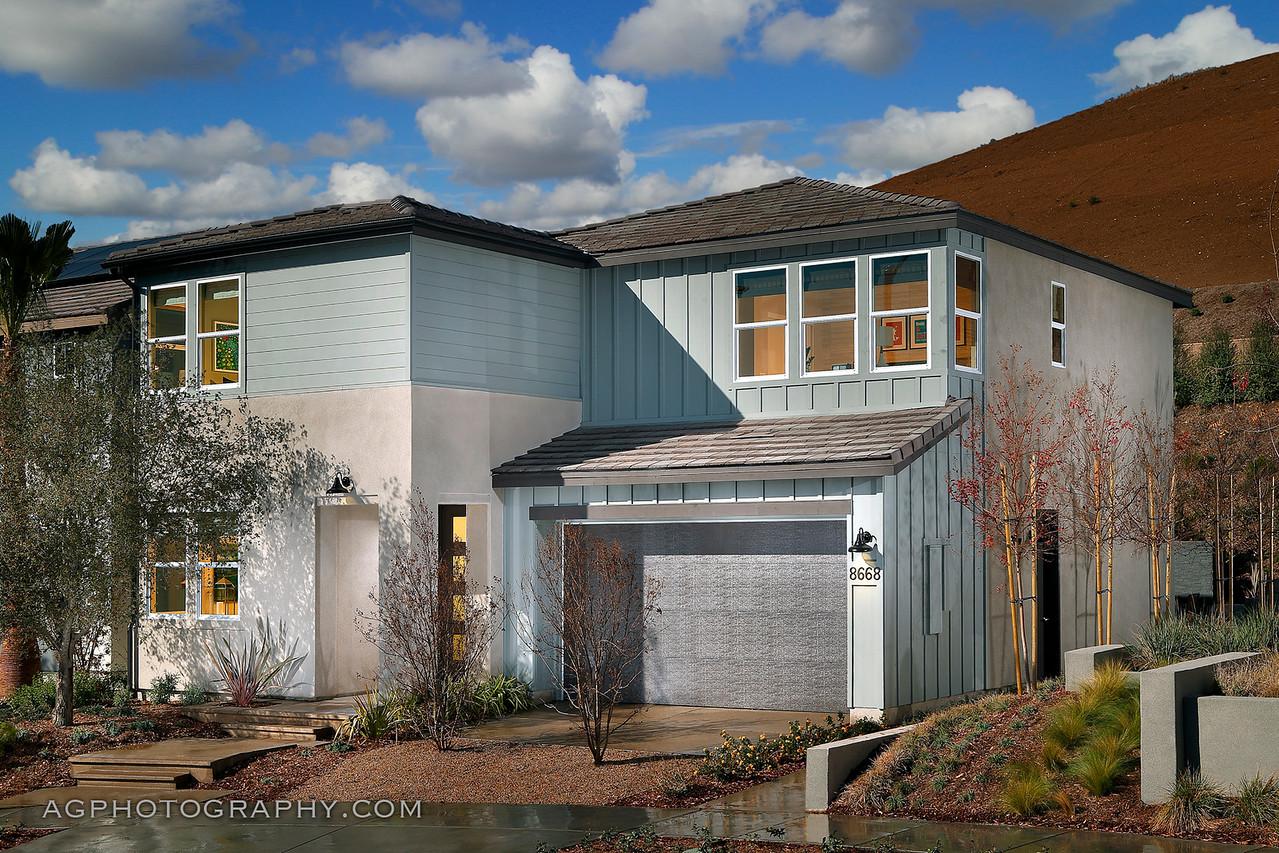 Sandstone at Weston by Pardee Homes, Santee, CA, 1/5/18.