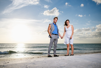 Treasure Island Beach Couples Portraits  at Sunset