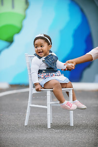 Downtown St Pete Florida Baby One Year Portrait Photos at Arts District Mirror Lake