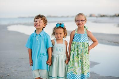 Sunset Vistas Treasure Island Morning Family Beach Portraits