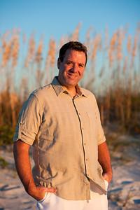 Treasure Island FL Sunset Beach Portrait Photos by St Petersburg Photographer Kristen Sloan