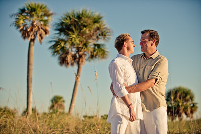 Sunset Beach Treasure Island Florida Couples Portraits
