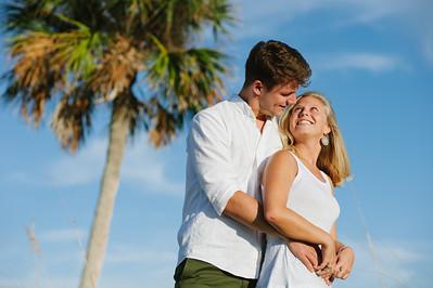Sunset Couples Beach Portraits at Treasure Island Florida