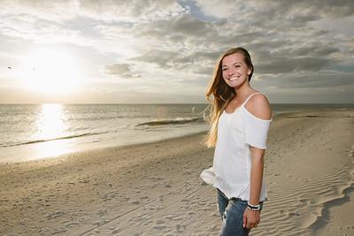 St Pete FL High School Senior Photos at Treasure Island Beach
