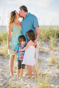 Family Beach Portrait Session in Treasure Island