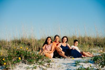 Treasure Island Florida Spring Sunset Family Beach Portrait Photos