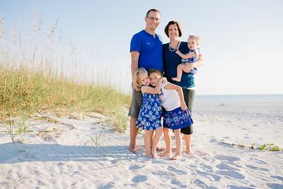 Treasure Island Beach Family Photo at Sunset Vistas Beachfront Suites