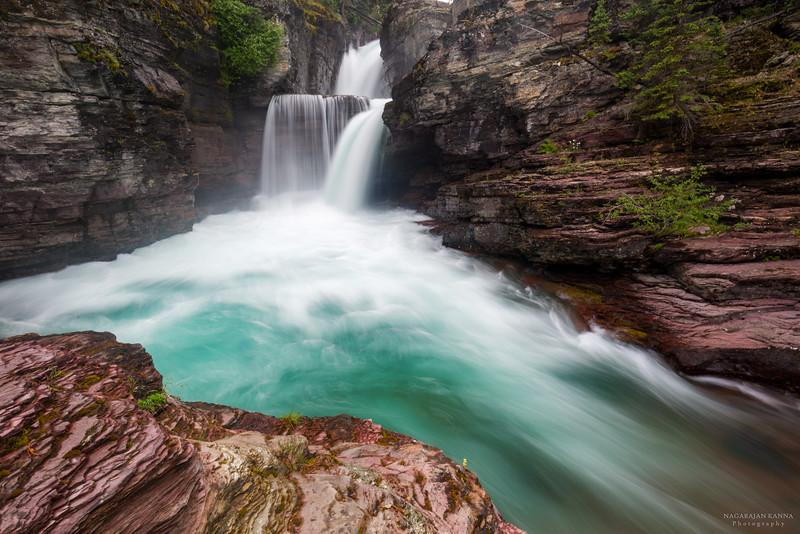 St. Mary Falls, Glacier NP