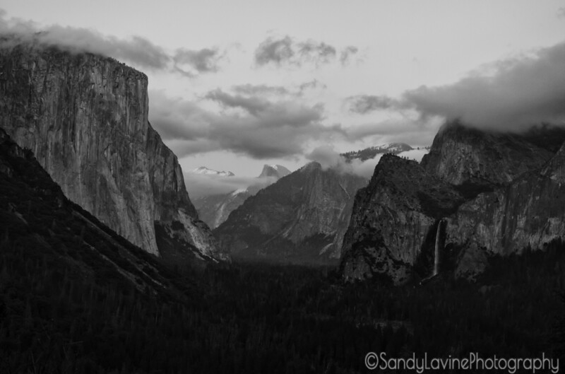 Half Dome Exposed from Tunnel View