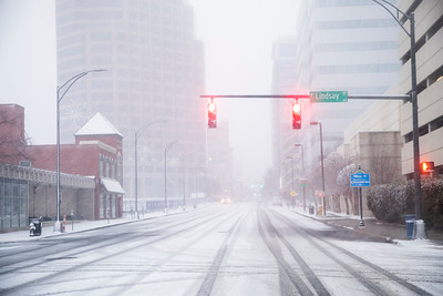 Downtown Greensboro Snow