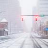 Downtown Greensboro Snow