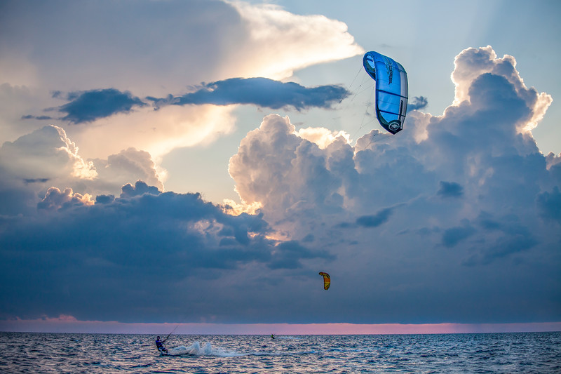 Kite Boarding and Towering  Storms
