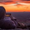 Enjoying a Blue Ridge Sunset