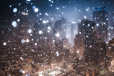 Times Square in Snow