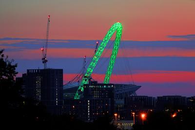 Green Wembley Arch