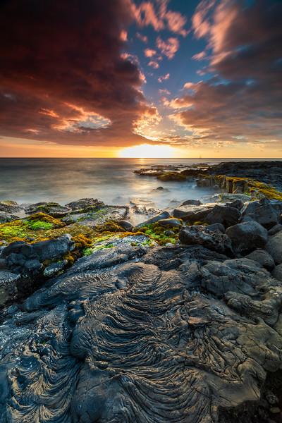 Sunset @ Wawaloli Beach, Big Island - Hawaii