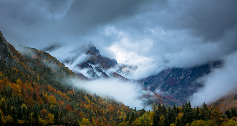Storm in the valley,Slovenia